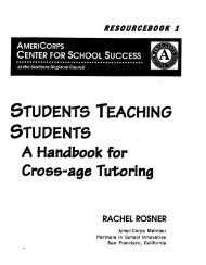 Cross Age Tutoring Handbook