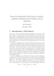 Recent development of the theory of matrix monotone functions and ...