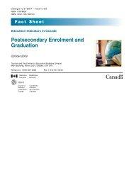 Postsecondary Enrolment and Graduation - Conseil des ministres ...