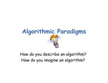 Algorithmic Paradigms - schmiedecke.info