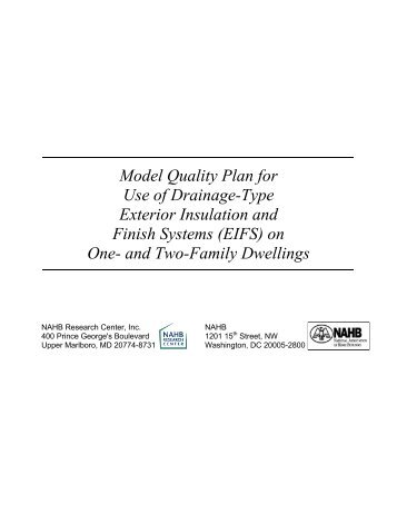 Model Quality Plan for Use of Drainage Type - ToolBase Services
