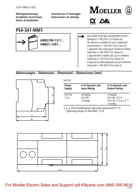 PS4-341-MM1 - Klockner Moeller Parts
