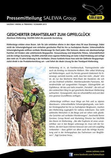 Gesicherter Drahtseilakt zum Gipfelglück - Salewa