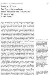 Die Sozialismusvision eines bedeutenden Historikers. In memoriam ...