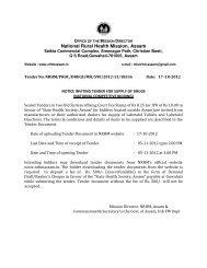 Notice - National Rural Health Mission, Assam