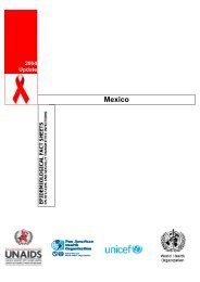 Mexico : epidemiological fact sheets on HIV/AIDS and ... - unaids