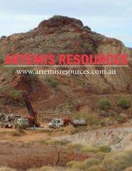 ARTEMIS RESOURCES - The International Resource Journal