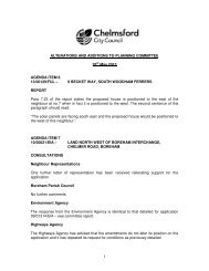 Green sheet amendments tabled at the meeting - Chelmsford ...