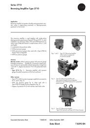 Series 3710 Reversing Amplifier Type 3710 Data Sheet T 8392 EN