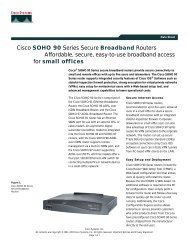 Cisco SOHO 90 Series Secure Broadband Routers Affordable ...