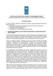 UNDP - Parliament of Georgia