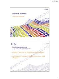 OpenACC Standard