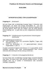 Klinische Chemie 1 - MTA-Schule Osnabrück