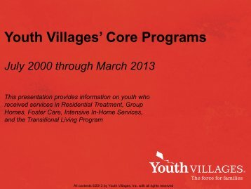 Download PDF version of this presentation - Youth Villages