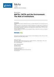 NAFTA, CAFTA and the Environment - Réseau Amérique Latine