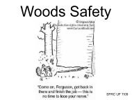 Woods Safety - School of Forest Resources & Conservation