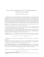 On the invariant distributions of C2 circle diffeomorphisms of ... - UMPA