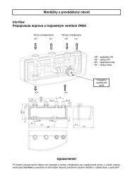 trio-flow Pripojovacia súprava s trojcestným ventilom ... - kotol-kotly.sk