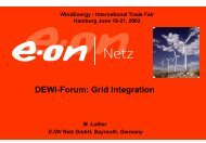 WindEnergy DEWI-Forum Hamburg, June 19, 2002