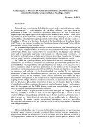 Carta al Defensor del Pueblo de la Presidenta y Vicepresidenta de ...