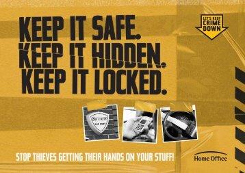 Keep it safe, hidden and locked - Devon & Cornwall Police