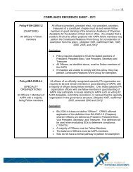 Page | 1 COMPLIANCE REFERENCE SHEET - 2011 - American ...