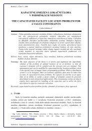 kapacitne omezená lokační úloha v podmínkách neistoty the ...