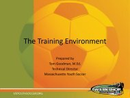 The Training Environment - US Youth Soccer