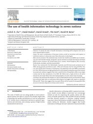 The use of health information technology in seven nations
