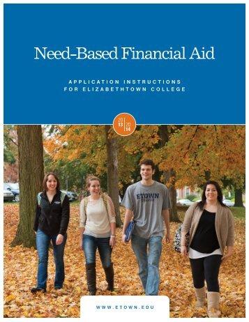 Need-Based Financial Aid - Elizabethtown College