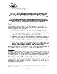 NHIA Medicare Position Paper