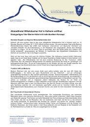 Pressemitteilung vom 09. November 2010 - Altstadthotel ...