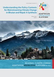 Understanding the Policy Contexts for Mainstreaming Climate ...