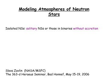 Theory of radiation transfer in neutron star atmospheres - MPE