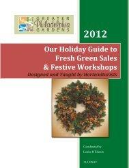 Holiday Green Sales & Workshops - Greater Philadelphia Gardens