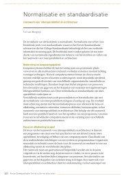 Normalisatie en standaardisatie - Forum Standaardisatie