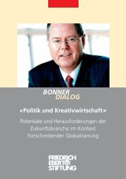 Politik und Kreativwirtschaft - Bibliothek der Friedrich-Ebert-Stiftung