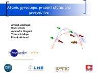 Atomic gyroscope: present status and prospective