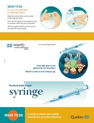 You have found a used syringe. What to do to avoid accidents and ...