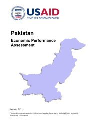 Pakistan Economic Performance Assessment (2007)