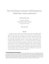 Survival and long-run dynamics with heterogeneous beliefs under ...
