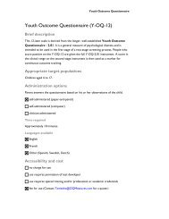 Youth Outcome Questionnaire - CAMH Knowledge Exchange