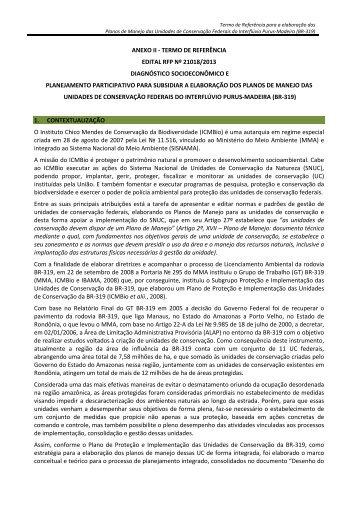 anexo ii - termo de referência edital rfp nº 21018/2013 ... - Pnud