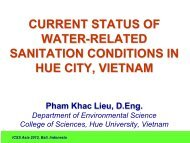 4. Water-related sanitation practices in Hue