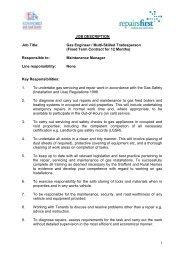 Gas Engineer Job Description - Stafford and Rural Homes