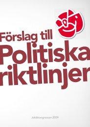 Förslag till politiska riktlinjer - Socialdemokraterna