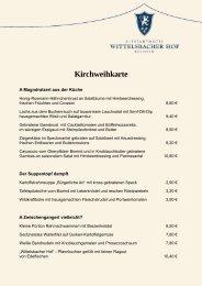 Kirchweihkarte - Altstadthotel Wittelsbacher Hof