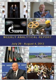 Weekly analytical report: July 29 - August 4, 2013 - Українська ...