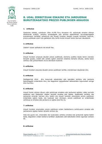 ordenanza 0-eus - Ayuntamiento de Vitoria-Gasteiz