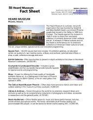General Fact Sheet - Heard Museum